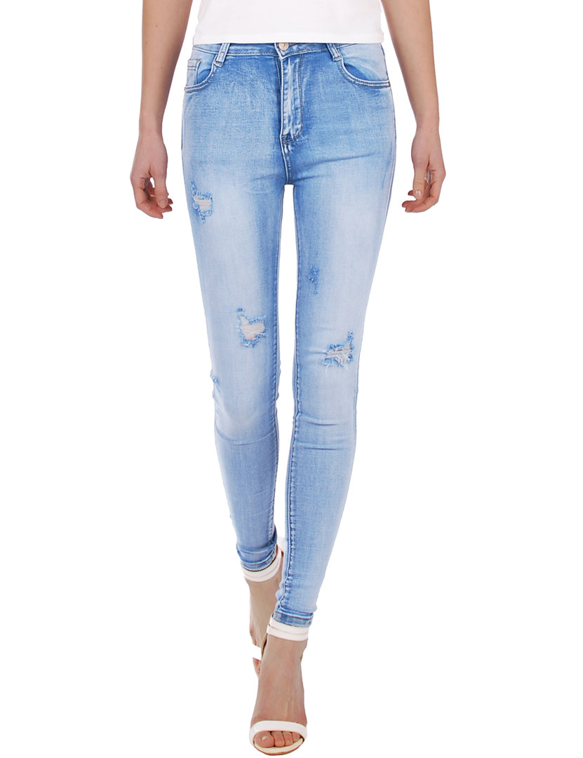 Fraternel Damen Jeans Hose high Waist Skinny destroyed