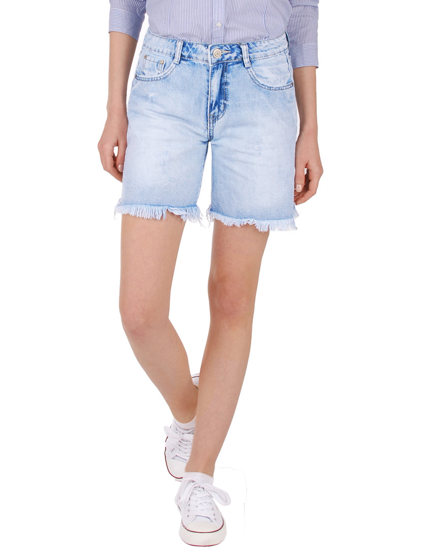 Fraternel Damen Jeans Shorts ausgefranst used