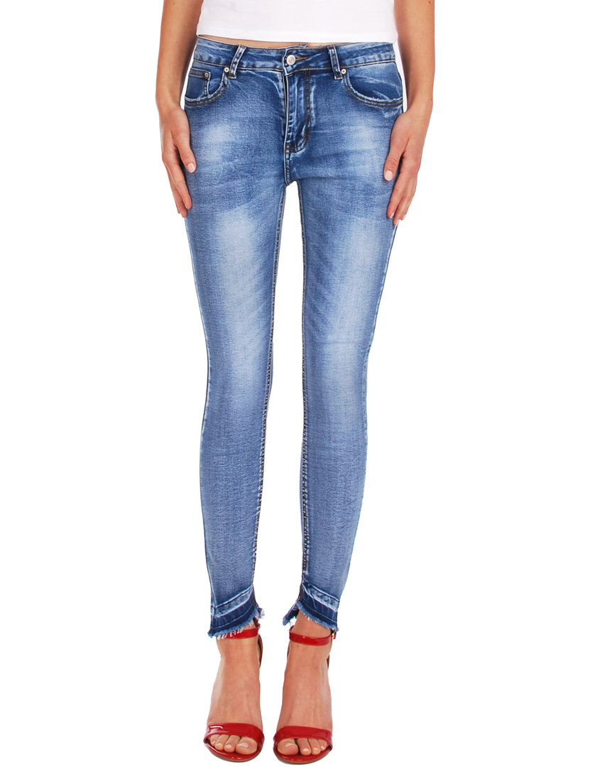 Fraternel Damen Jeans Hose used super skinny stretch normal waist