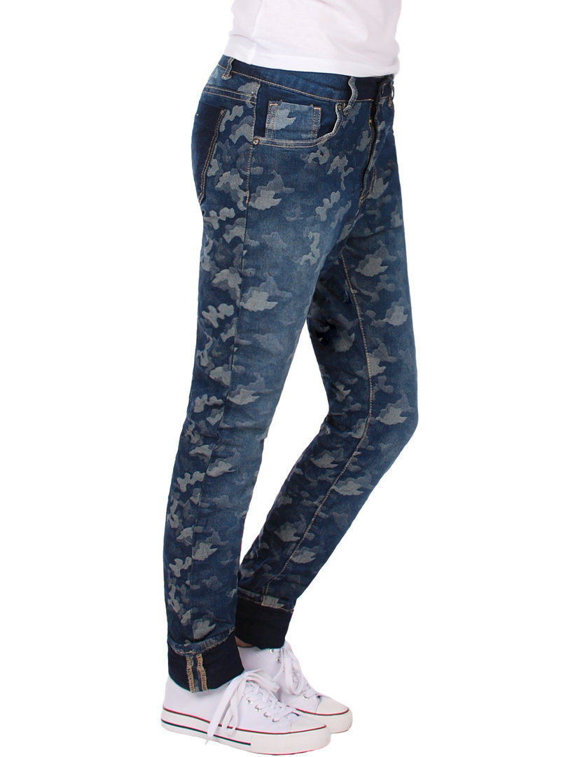 Fraternel Damen Jeans Hosen normal fit camouflage stretch