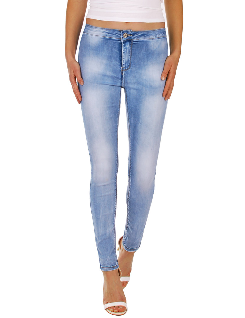Fraternel Damen Jeans Hose Super Stretch Normal Waist