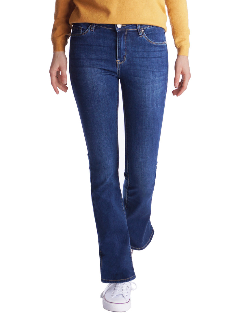 Fraternel Damen Jeans Hose Bootcut normal waist Stretch