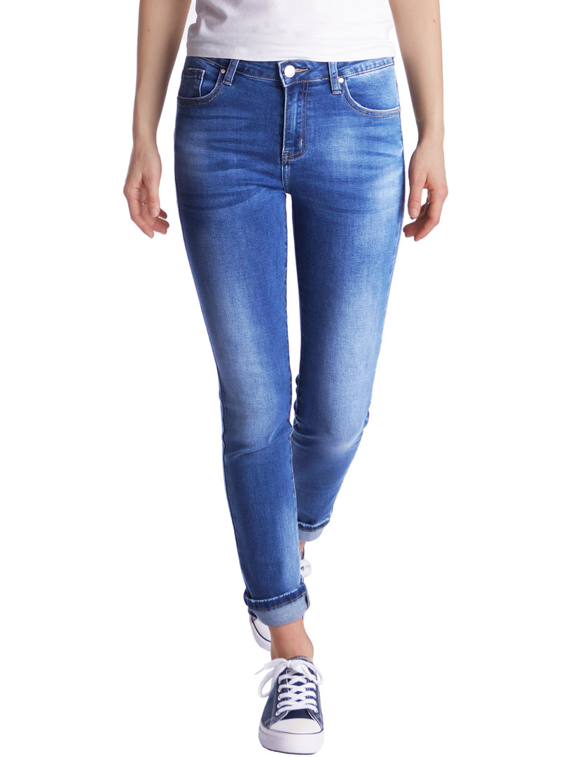 Fraternel Damen Jeans Hose High Waist Straight Cut gerade